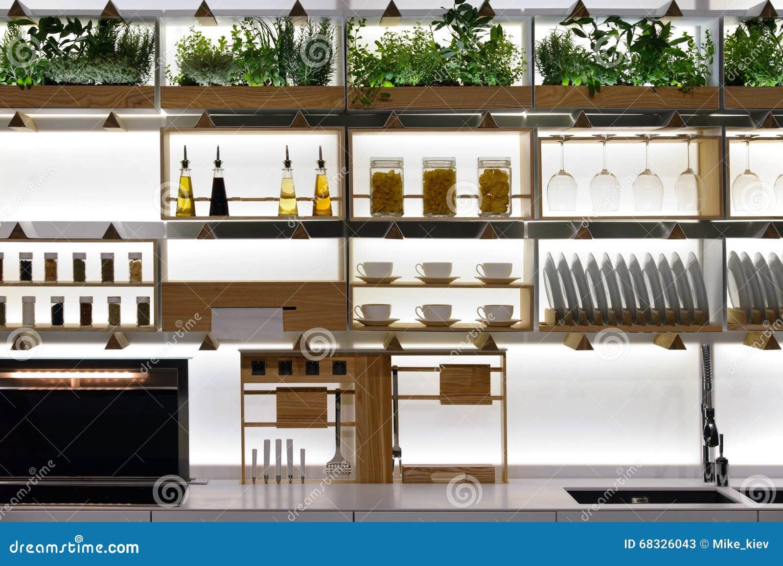 Küchenregale stockbild. Bild von erneuerung, niemand - 68326043