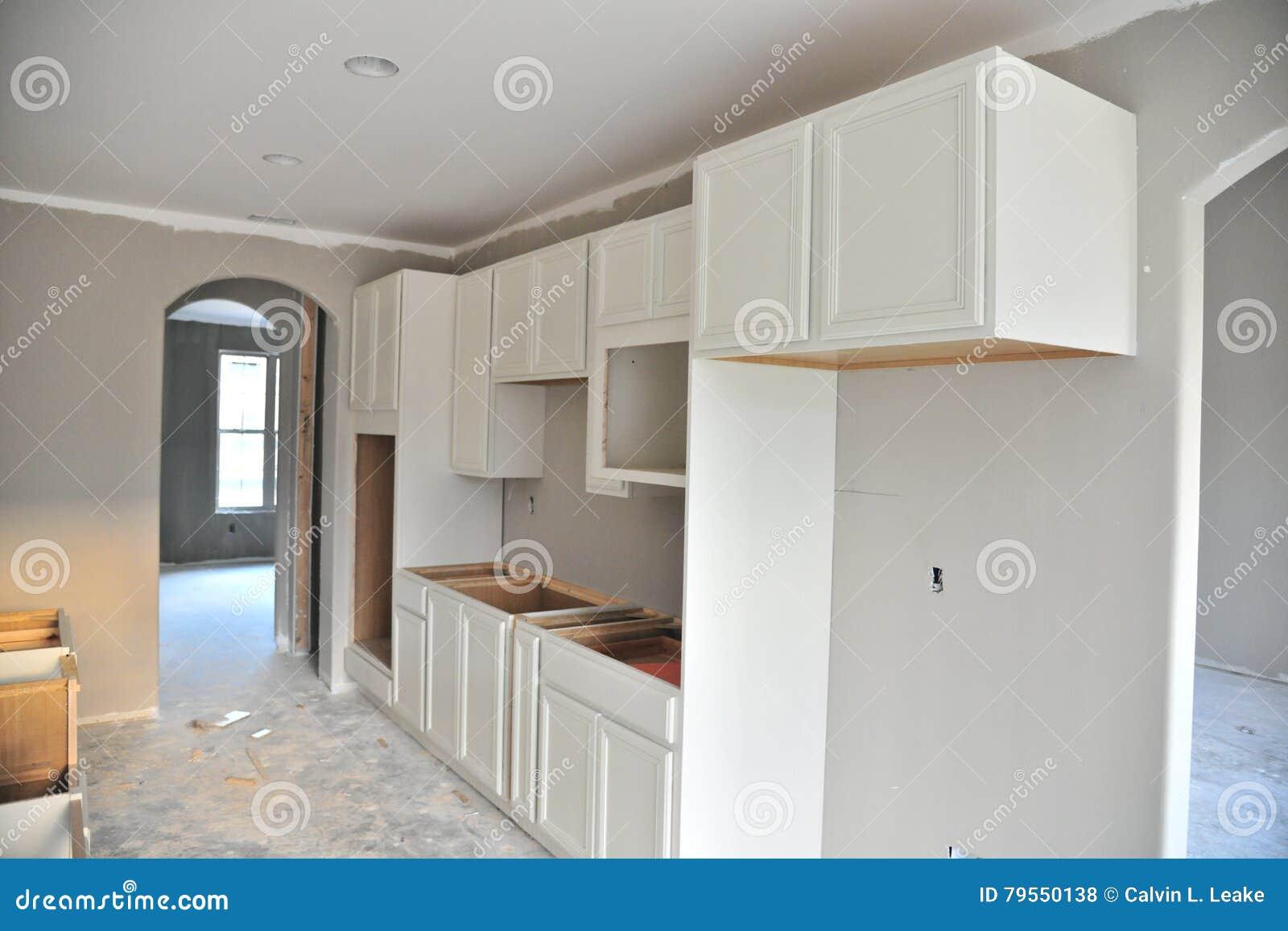 Küchenschrank, Der Projekt Umgestaltet Stockfoto - Bild von gebäude ...