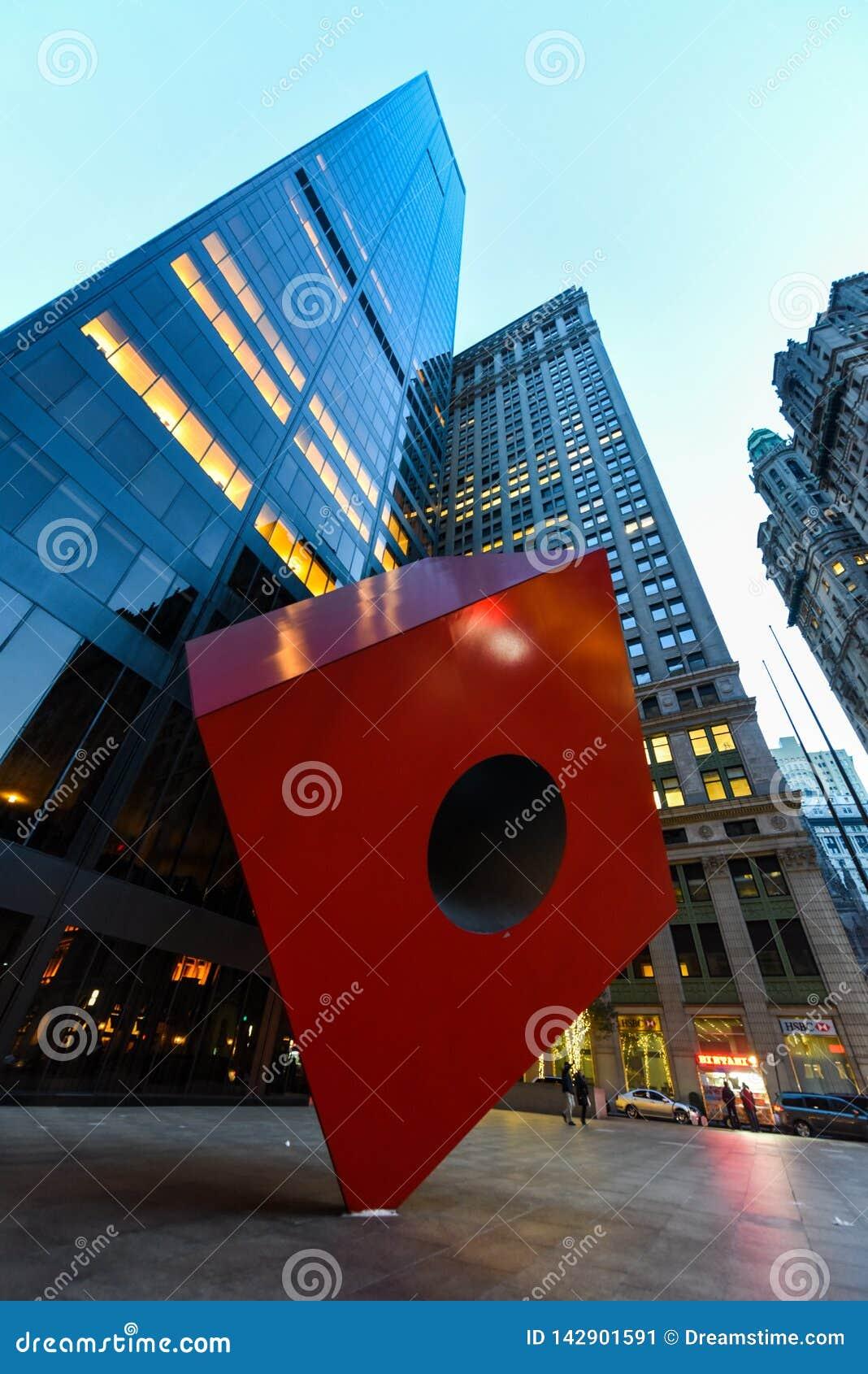 Kühle Statue in unterem Manhattan