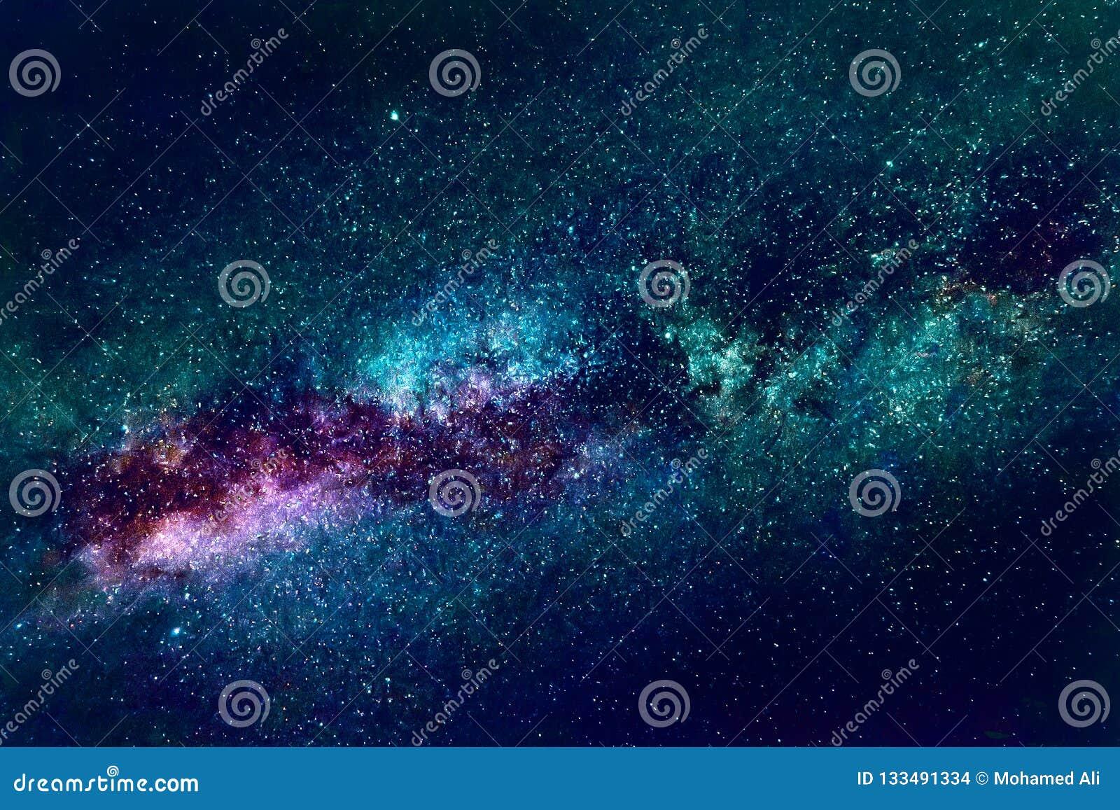 Künstlerische Zusammenfassungs-drastischer mehrfarbiger Nebelfleck-Galaxie-Hintergrund