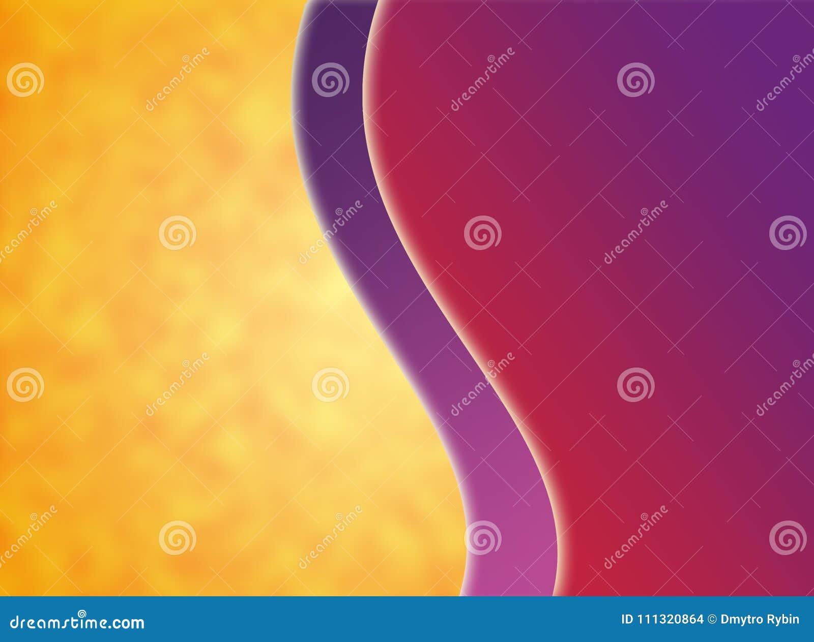 Kunstlerischer Hintergrund Purpurrote Violette Orange Gelbe Rote