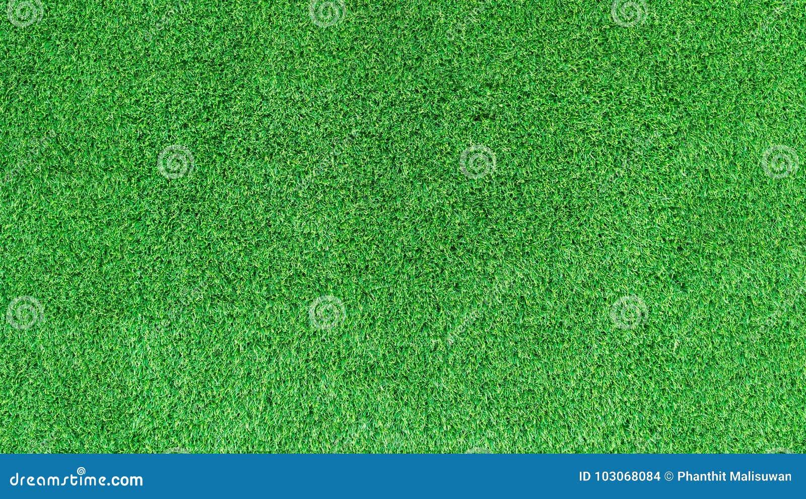 Künstliche Beschaffenheit des grünen Grases oder Hintergrund des grünen Grases für Golfplatz Fußballplatz oder Sporthintergrund