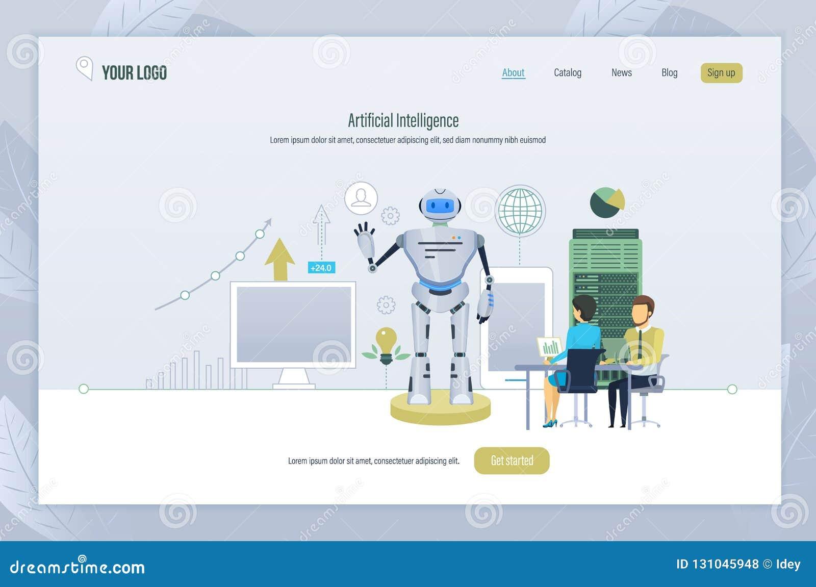 Künstliche Intelligenz Schaffung, Management, Prüfung des Roboters, Technologie von Zukunft
