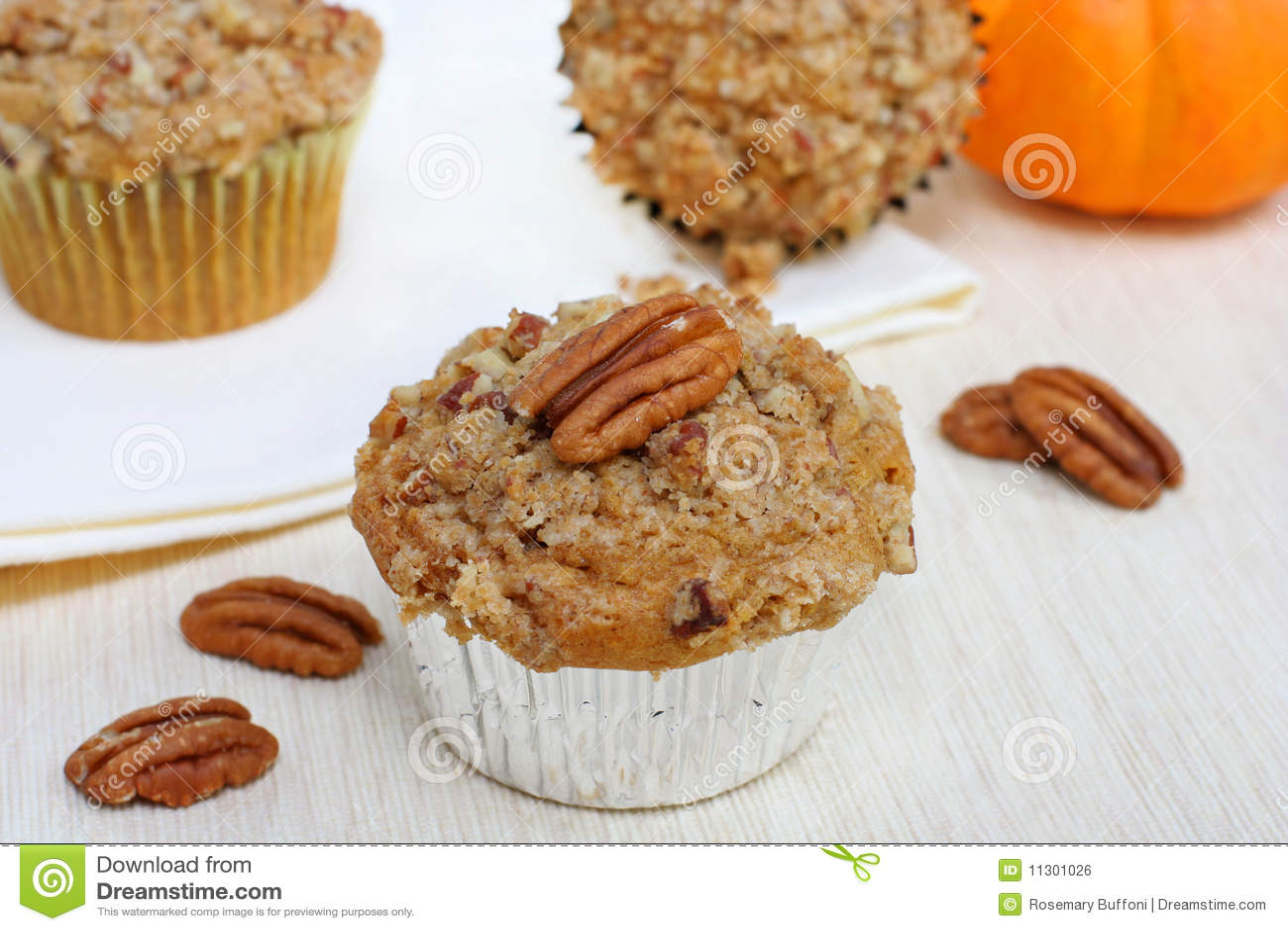 Kürbis-Pekannuss-Muffins