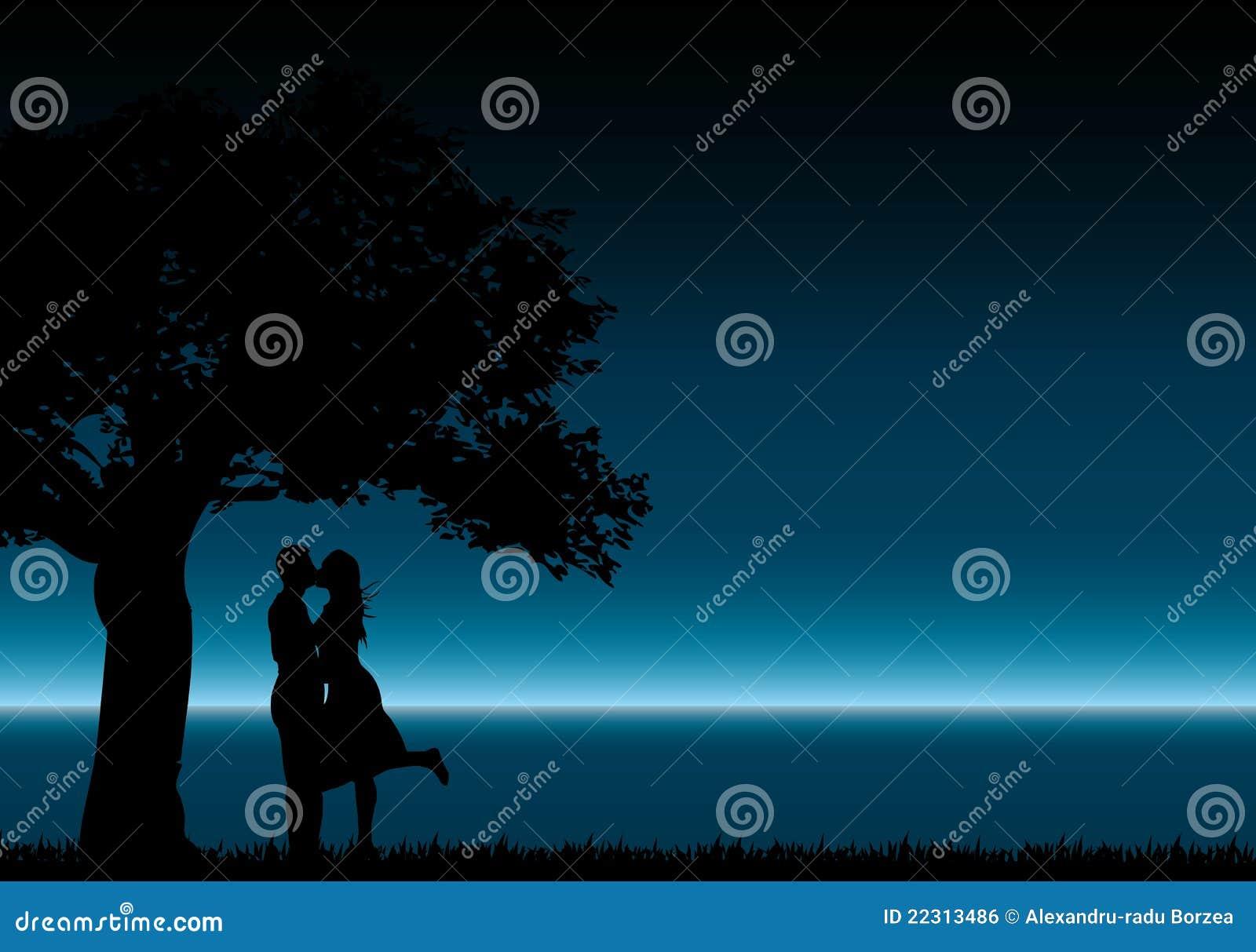 Küssen der Schattenbilder