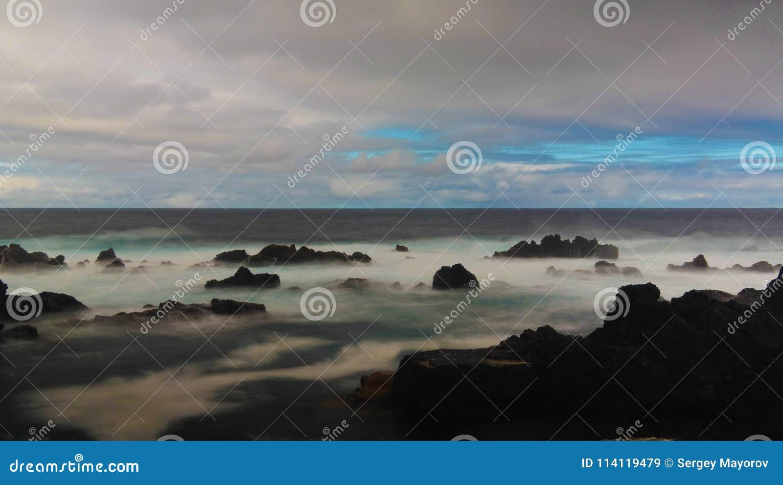 Küste der Bucht von Tauben Pombas alias, biscoitos, Terceira-Insel, Azoren, Portugal