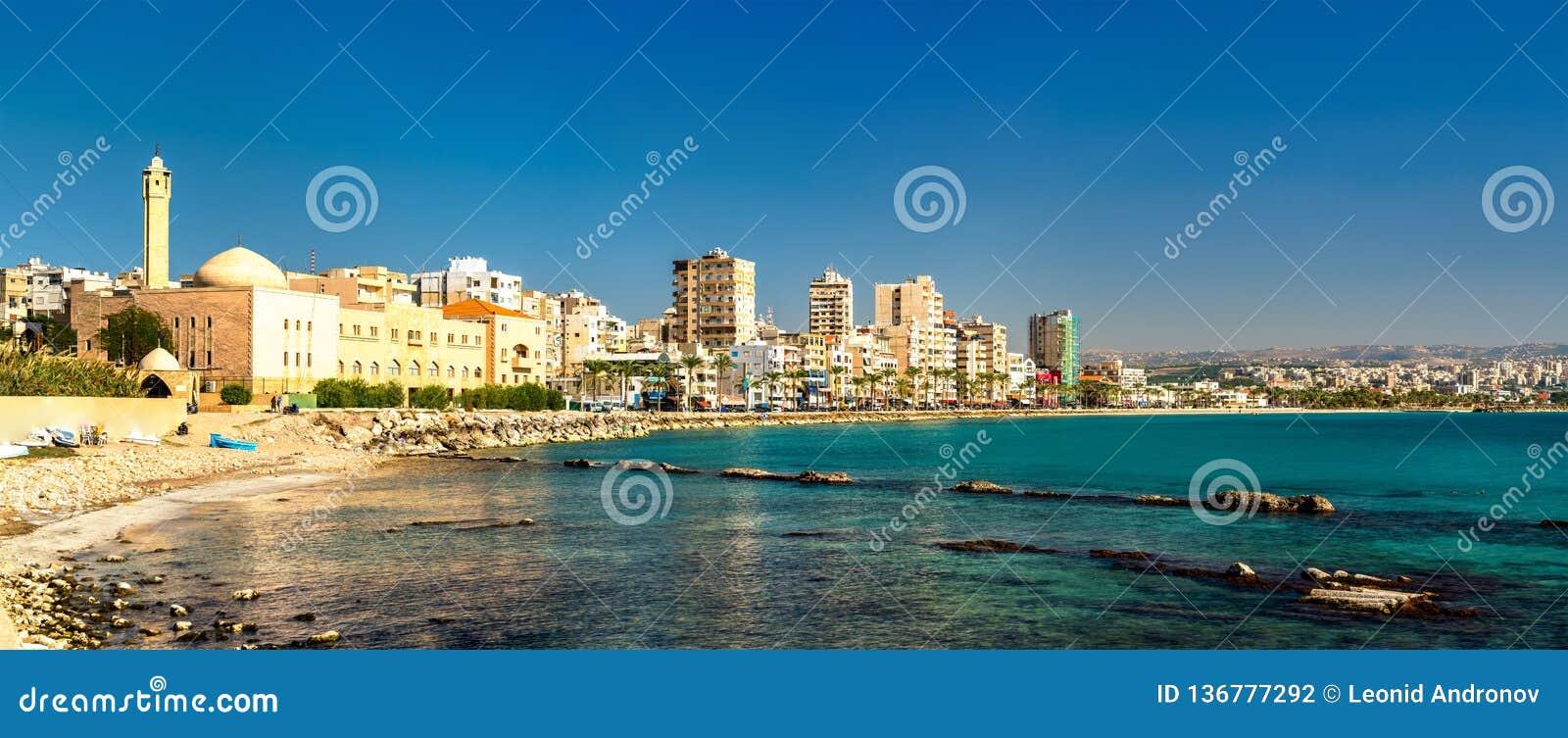 Küste des Reifens im Libanon
