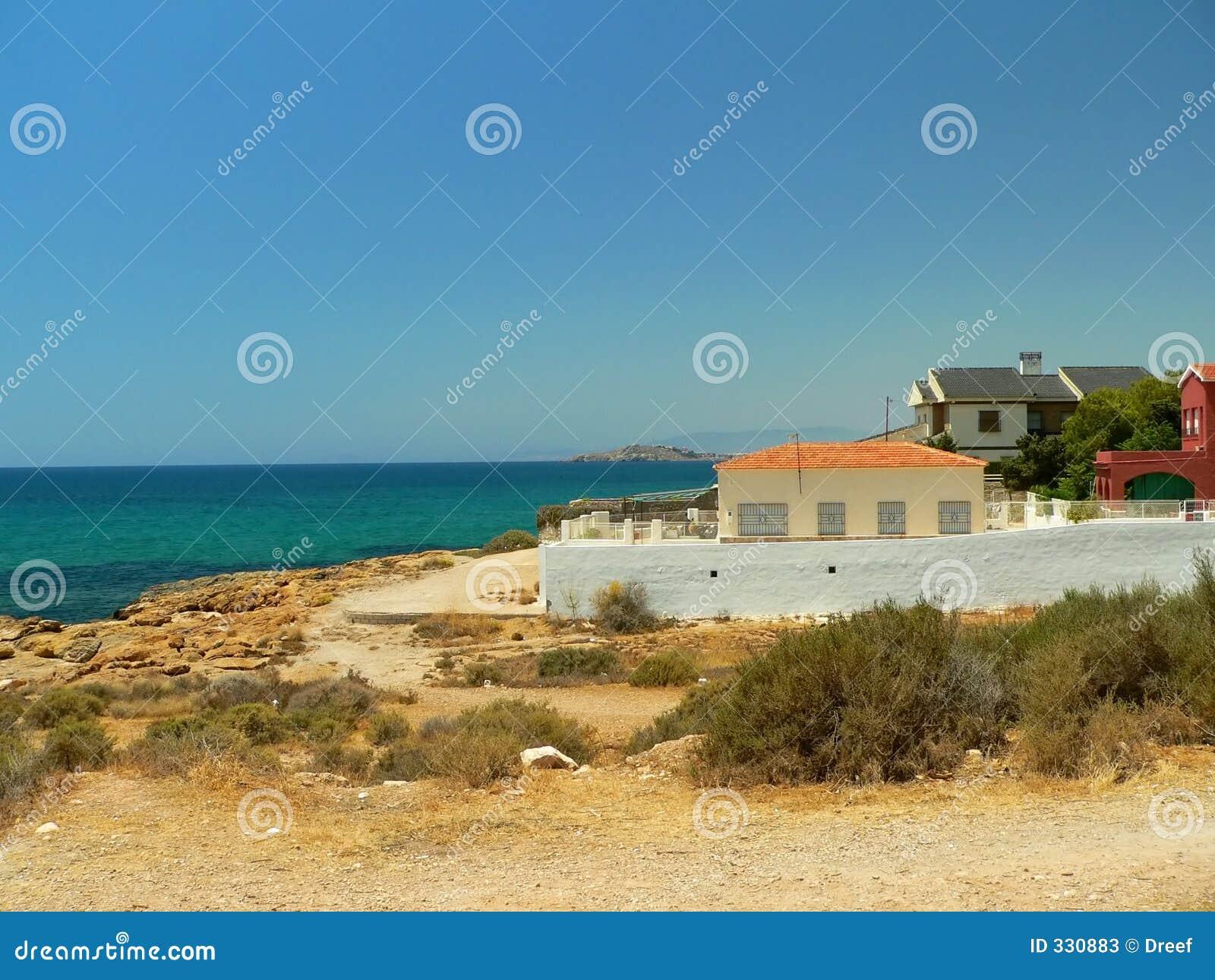 Küstenlinie in Spanien