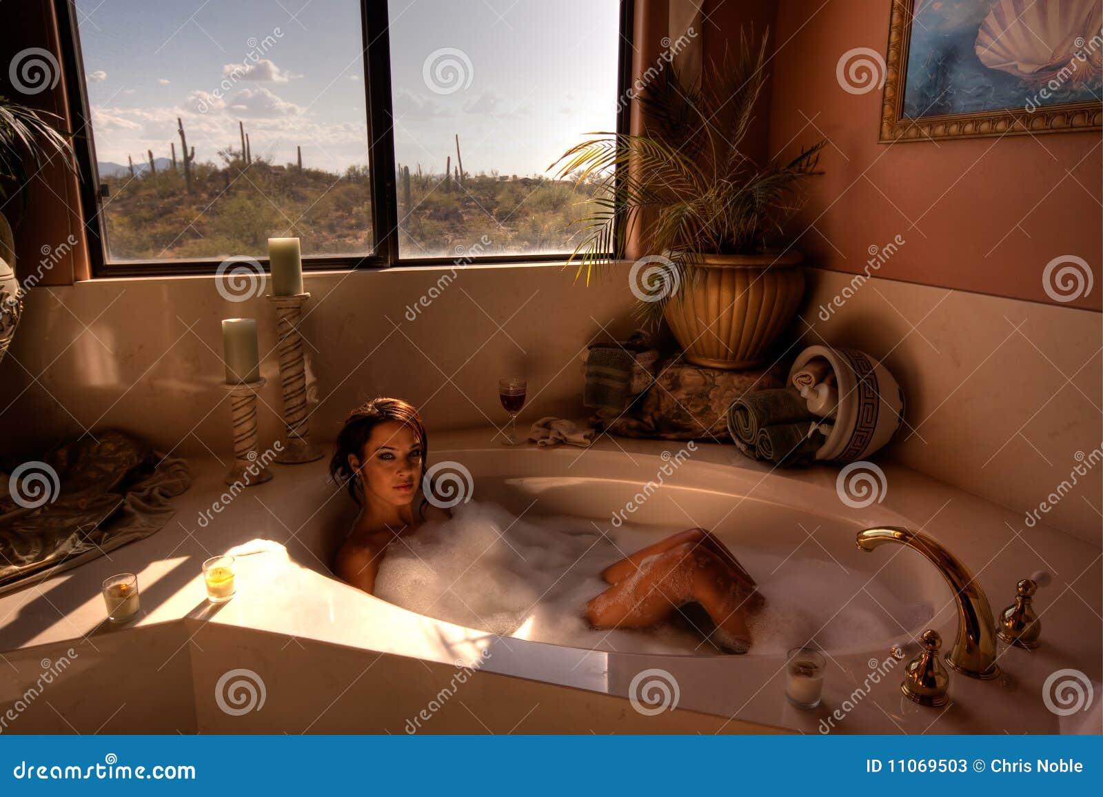 Kąpielowa hdr wizerunku kobieta