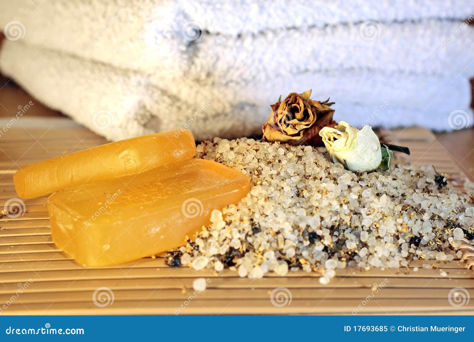 Kąpielowych soli mydlani ręczniki
