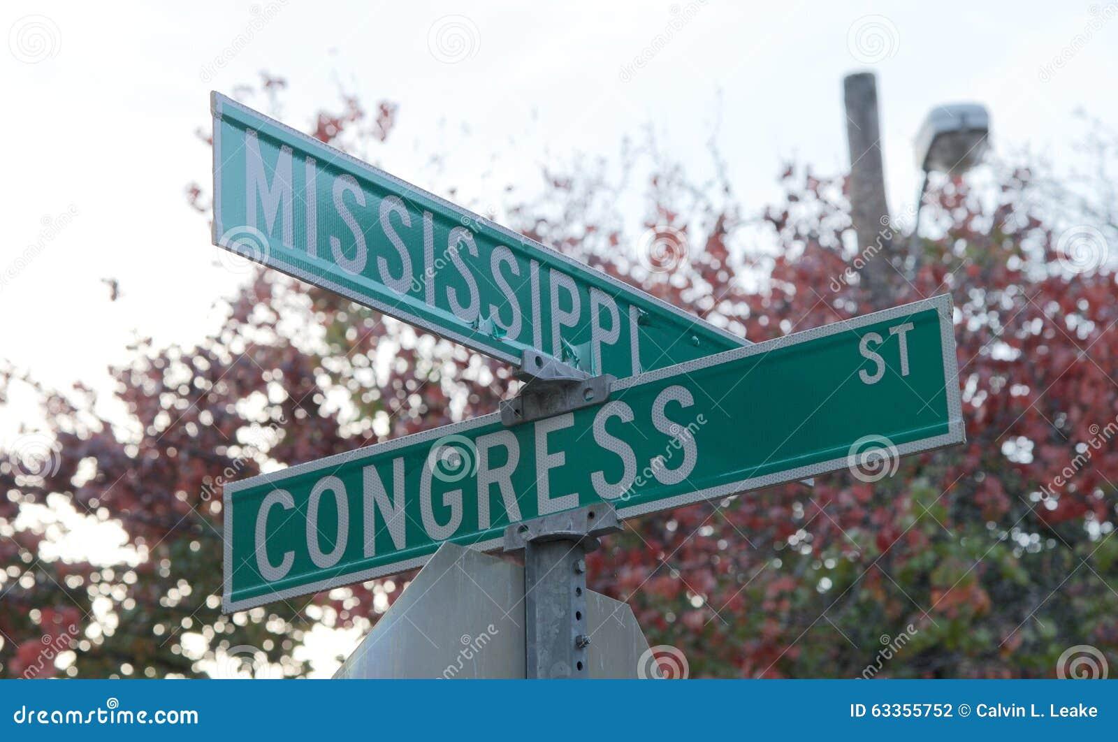 Kąt Mississippi i Kongresowe ulicy