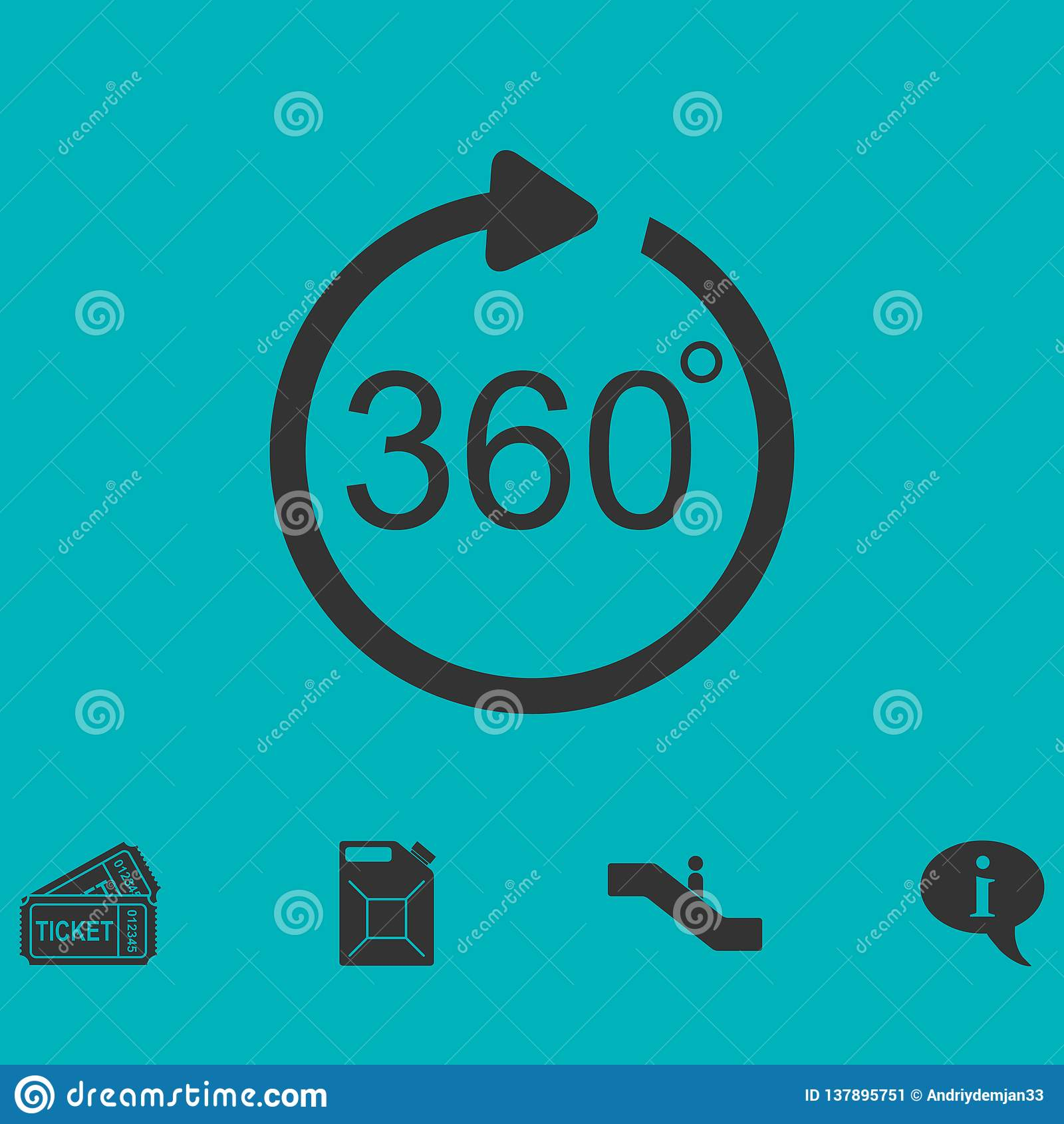 Kąt 360 stopni ikony mieszkania