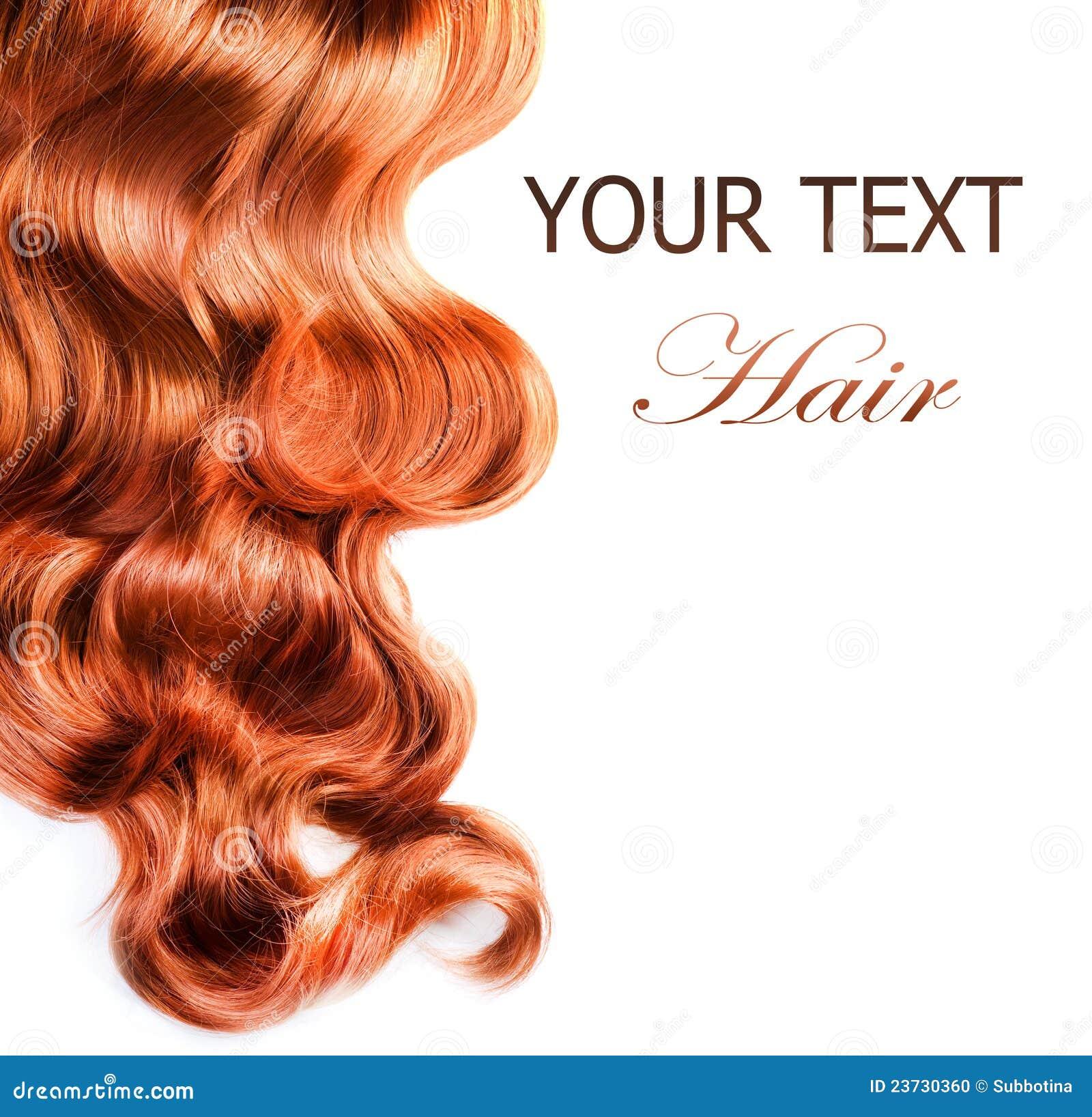 Kędzierzawego włosy czerwień