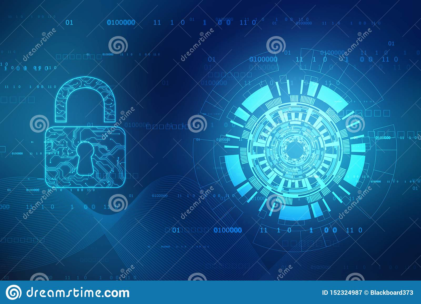 Kędziorek na cyfrowym ekranie Technologii ochrony poj?cie Nowo?ytny zbawczy cyfrowy t?o System ochrony