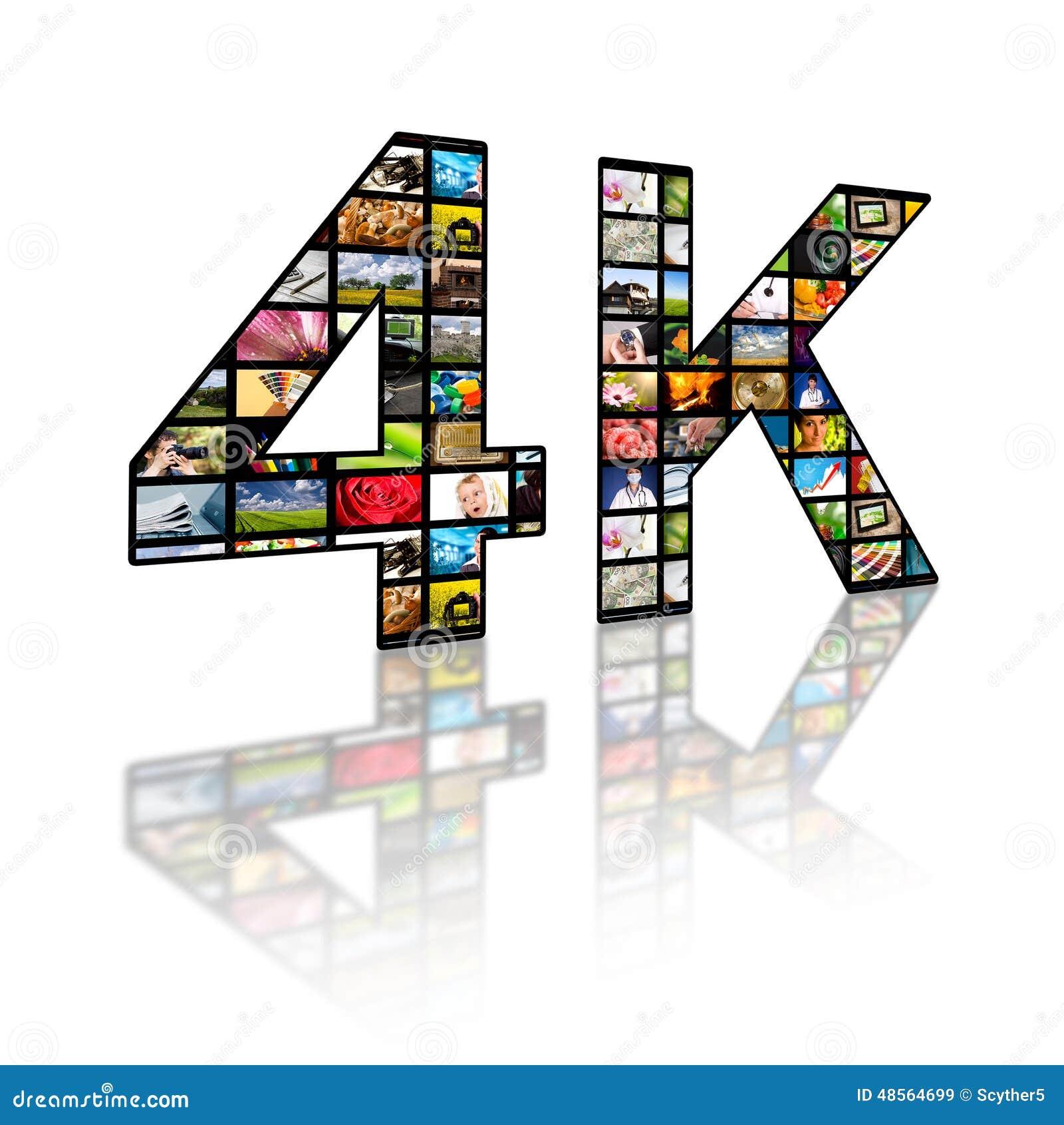 4k concetto di risoluzione TV
