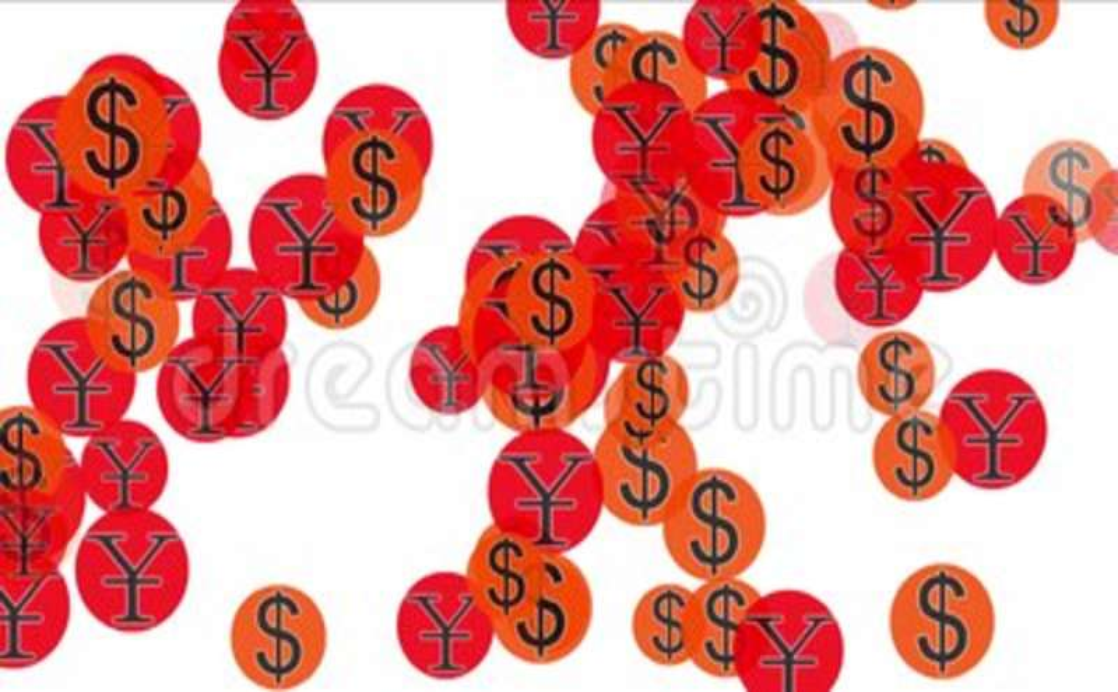 4k Float Usa Dollars China Rmb Money Wealth Symbolexchange Rate
