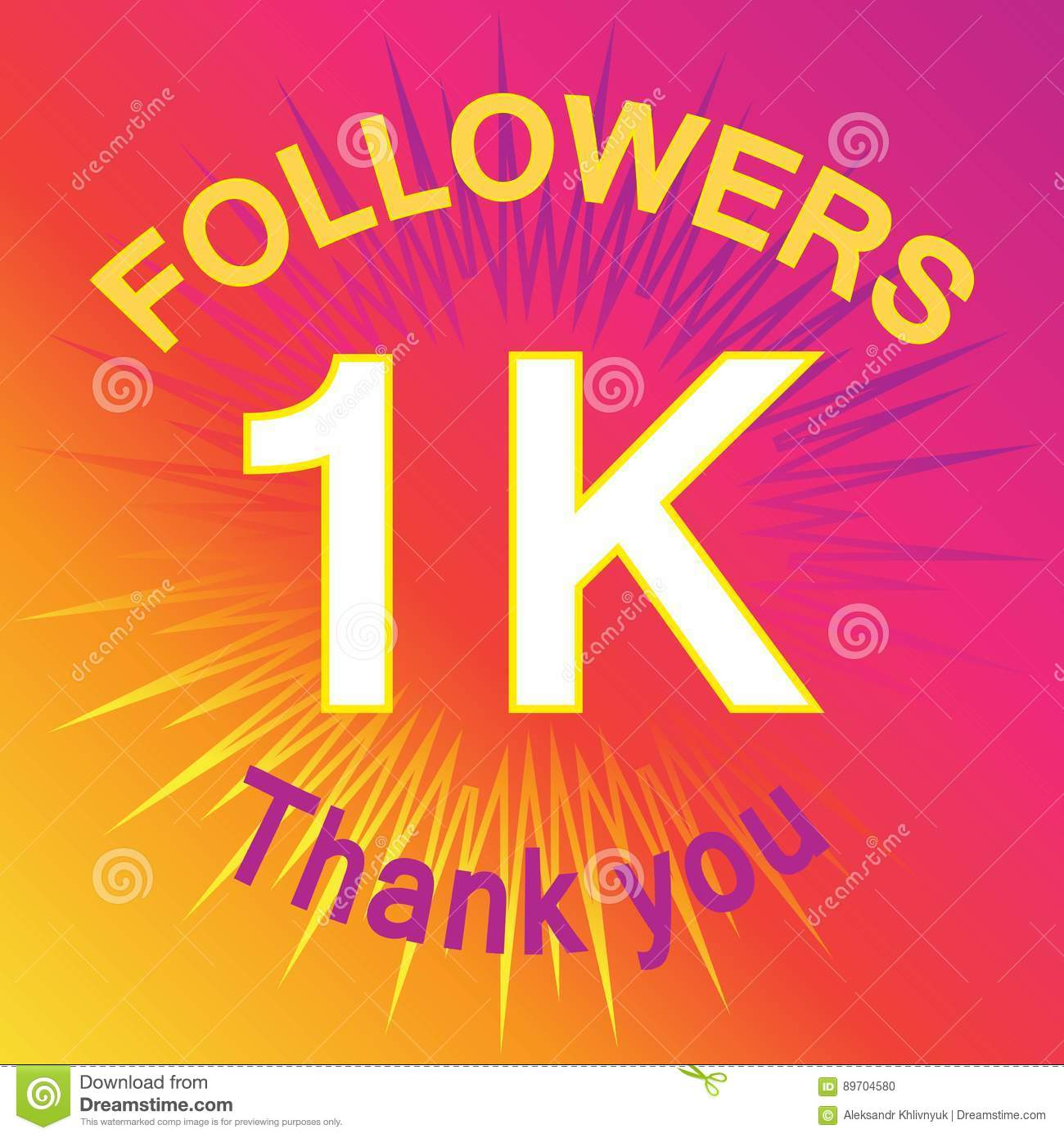 1k followers illustration with thank you stock illustration 1k followers illustration with thank you greeting hundred kristyandbryce Images