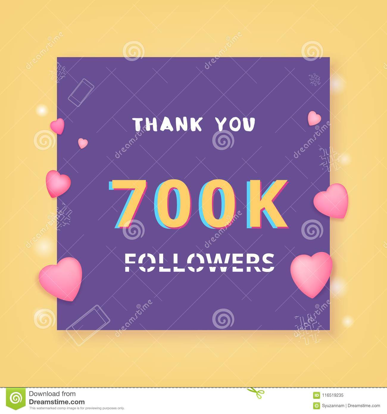 0d67bcbb648 700K Followers Thank You. Vector Illustration. Stock Vector ...