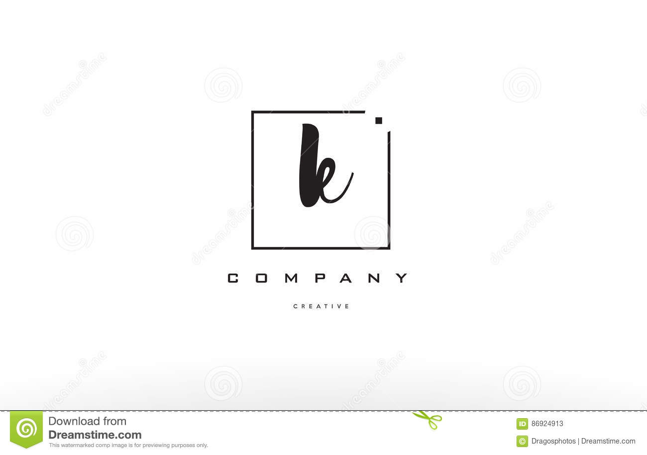 K Hand Writing Letter Company Logo Icon Design Stock Vector