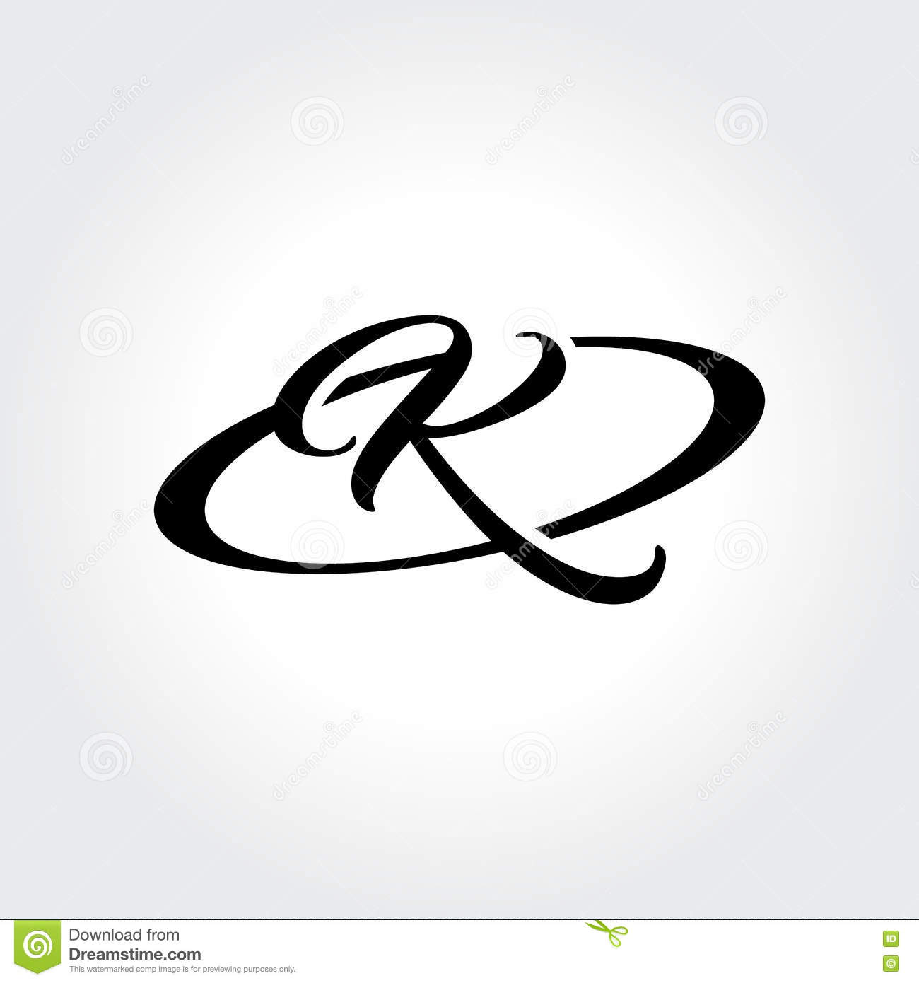K Initial Symbol In Circle Creative Design Illustration