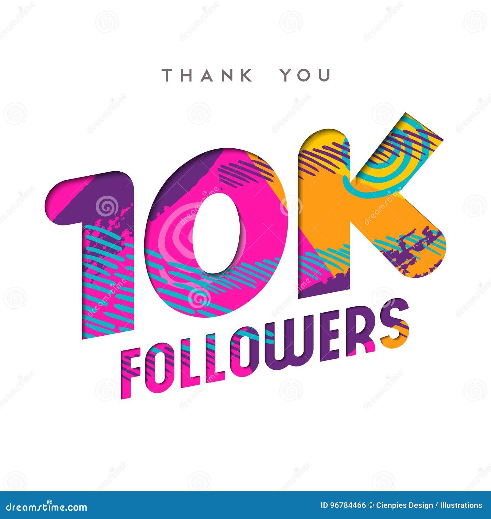 10k Photography 10kphotography: 10k Internet Follower Number Thank You Template Stock
