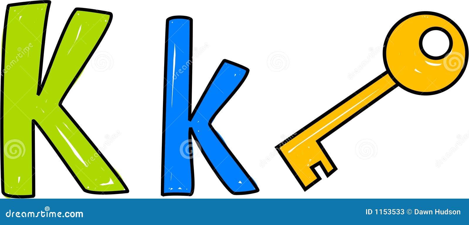 k is for key stock vector illustration of kindergarten 1153533
