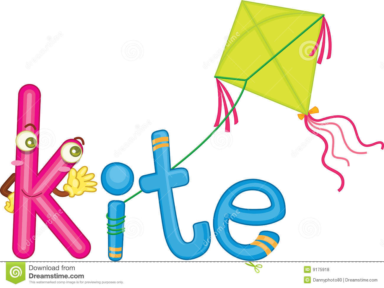 k for kite royalty free stock photos
