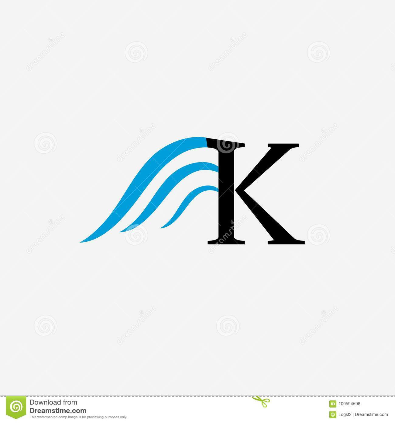 K Letter Wing Vector Logo Stock Vector Illustration Of Idea