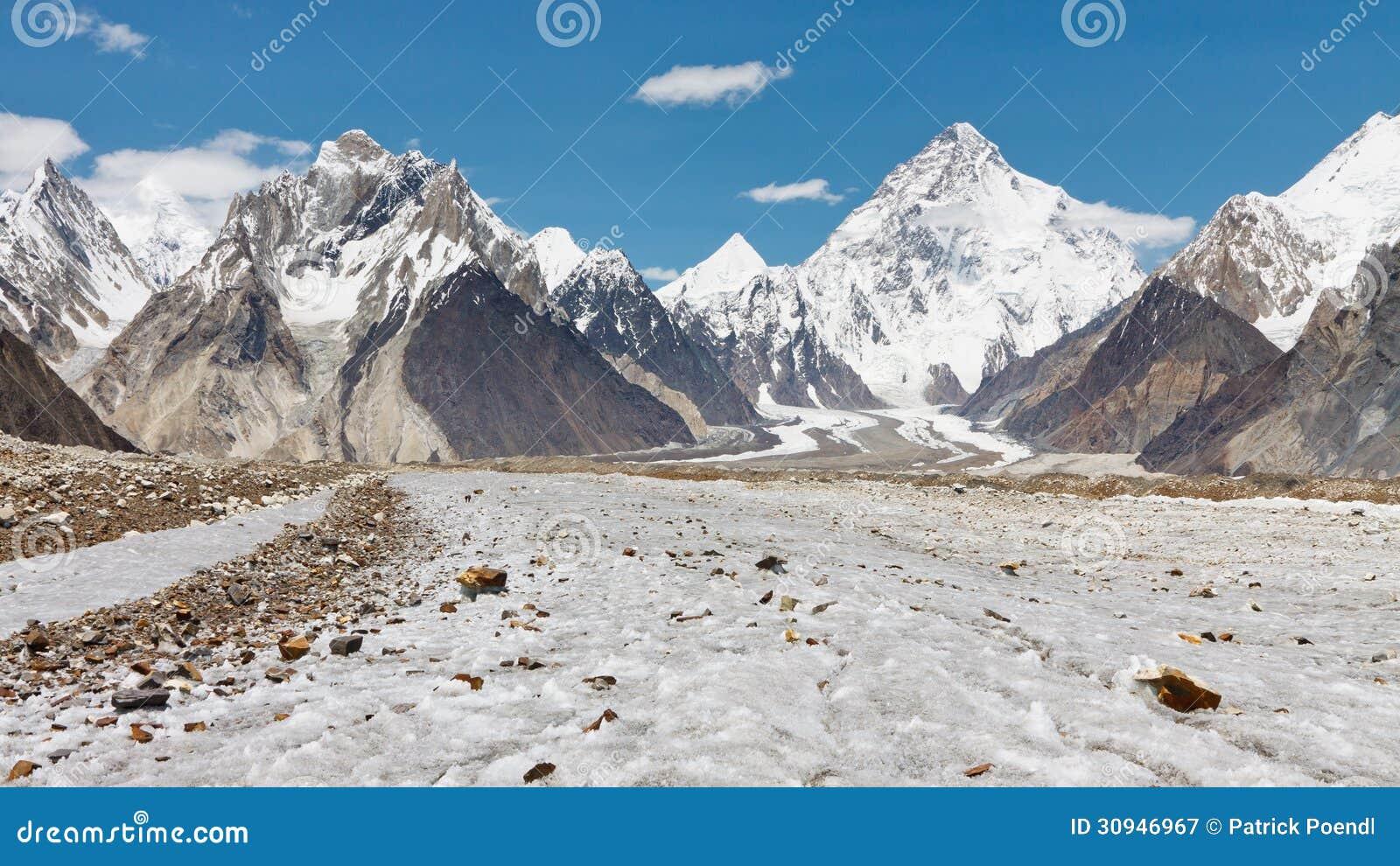 K2- och Baltoro glaciär, Pakistan