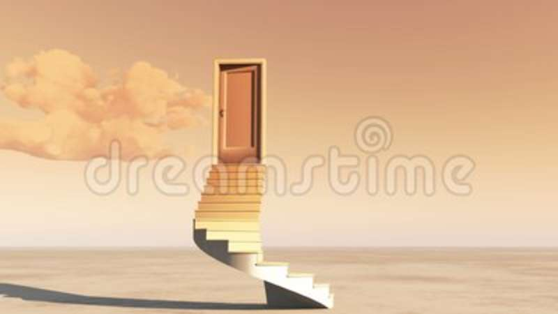 Superieur 4k Open Door With Stairs,timelapse Flying Clouds On The Wide Plains,sci Fi  Scenes. Stock Footage   Video Of Meteorological, Landscape: 111241266