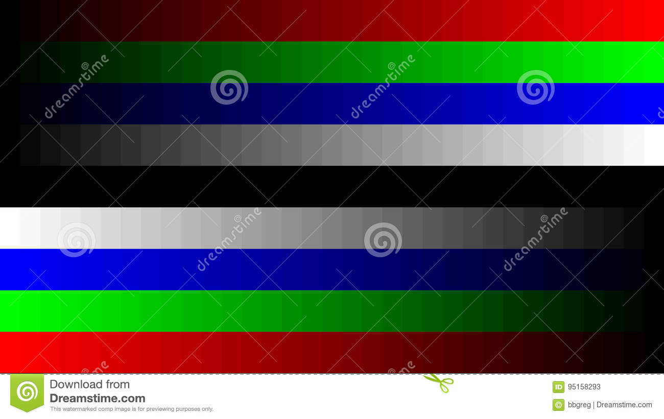 8K 7680x4320 TV RGB Gradient Television Test Pattern To