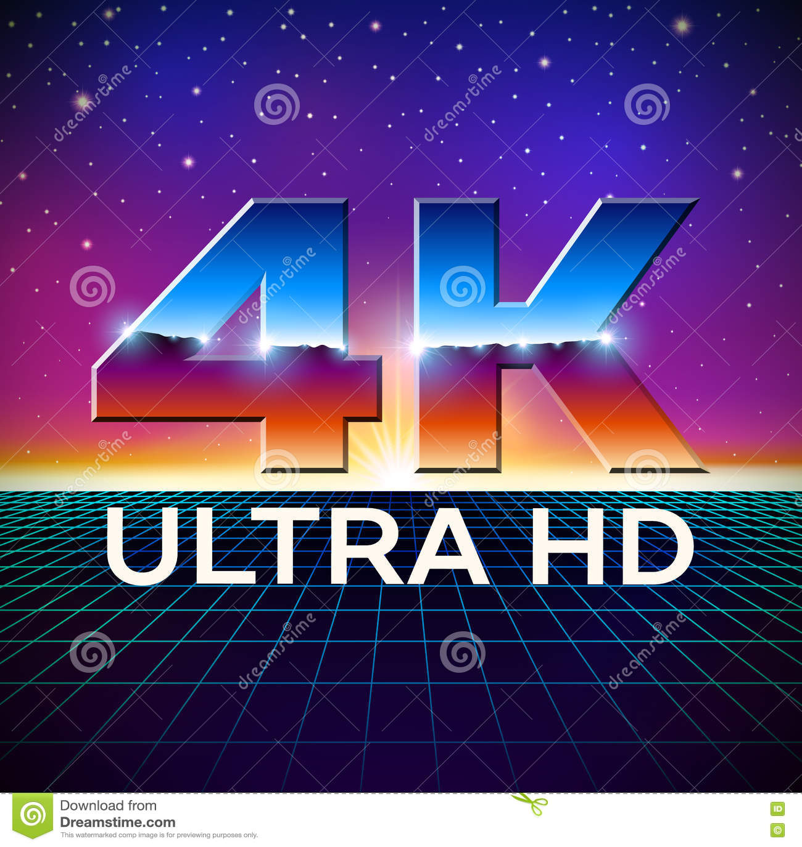 K Ultra Hd Format Logo Shiny Chrome Letters