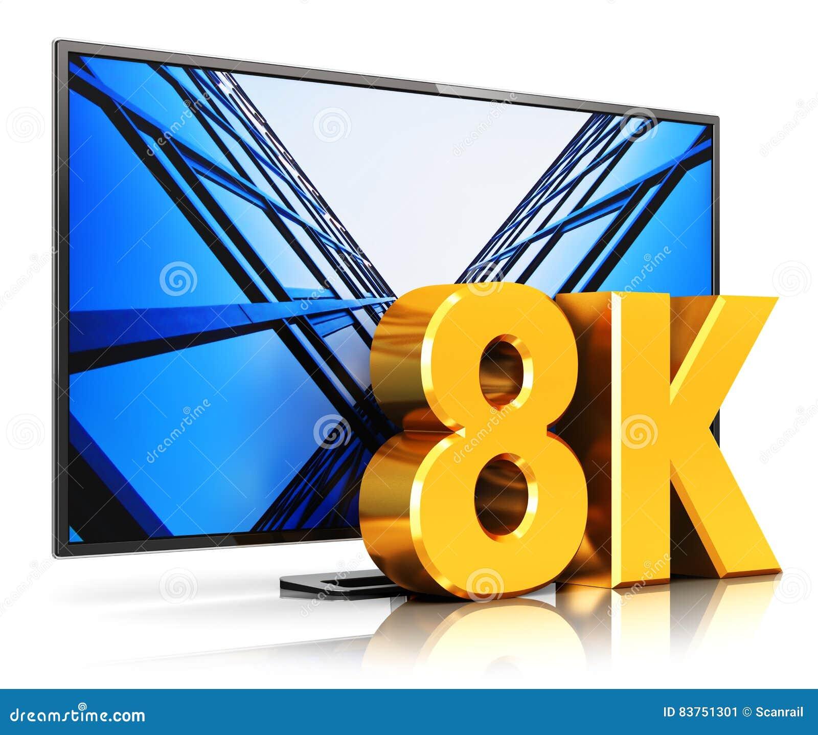 8k Ultrahd Tv Stock Illustration Illustration Of Media 83751301