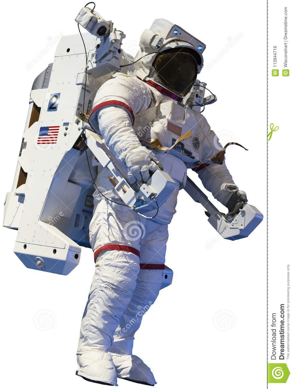 Astronaut, Outer Space Walk, Isolated