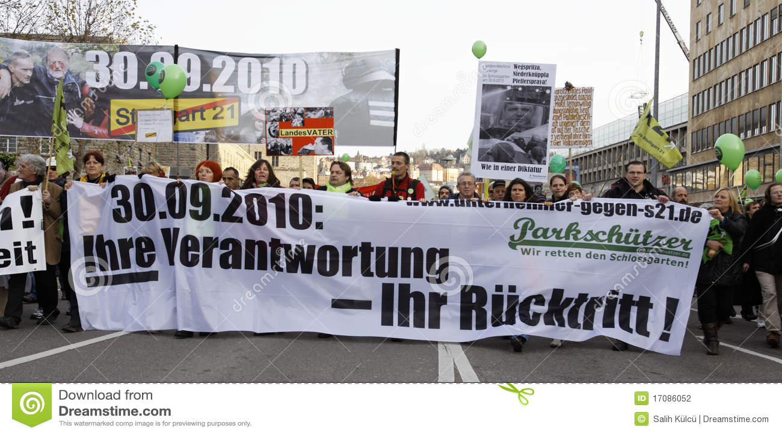 K21 Demonstration - Stuttgart