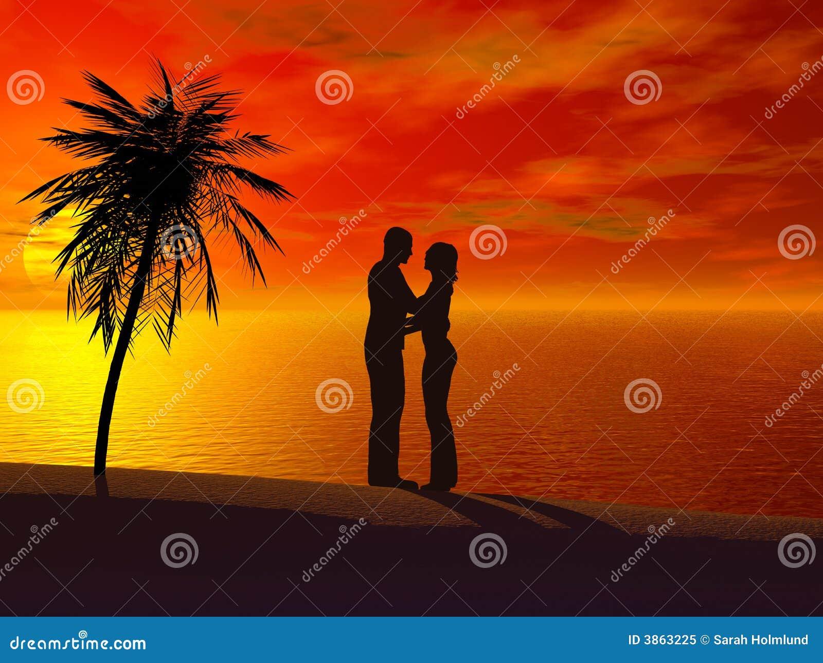 Każda para obejmowanie kolejny zachód słońca