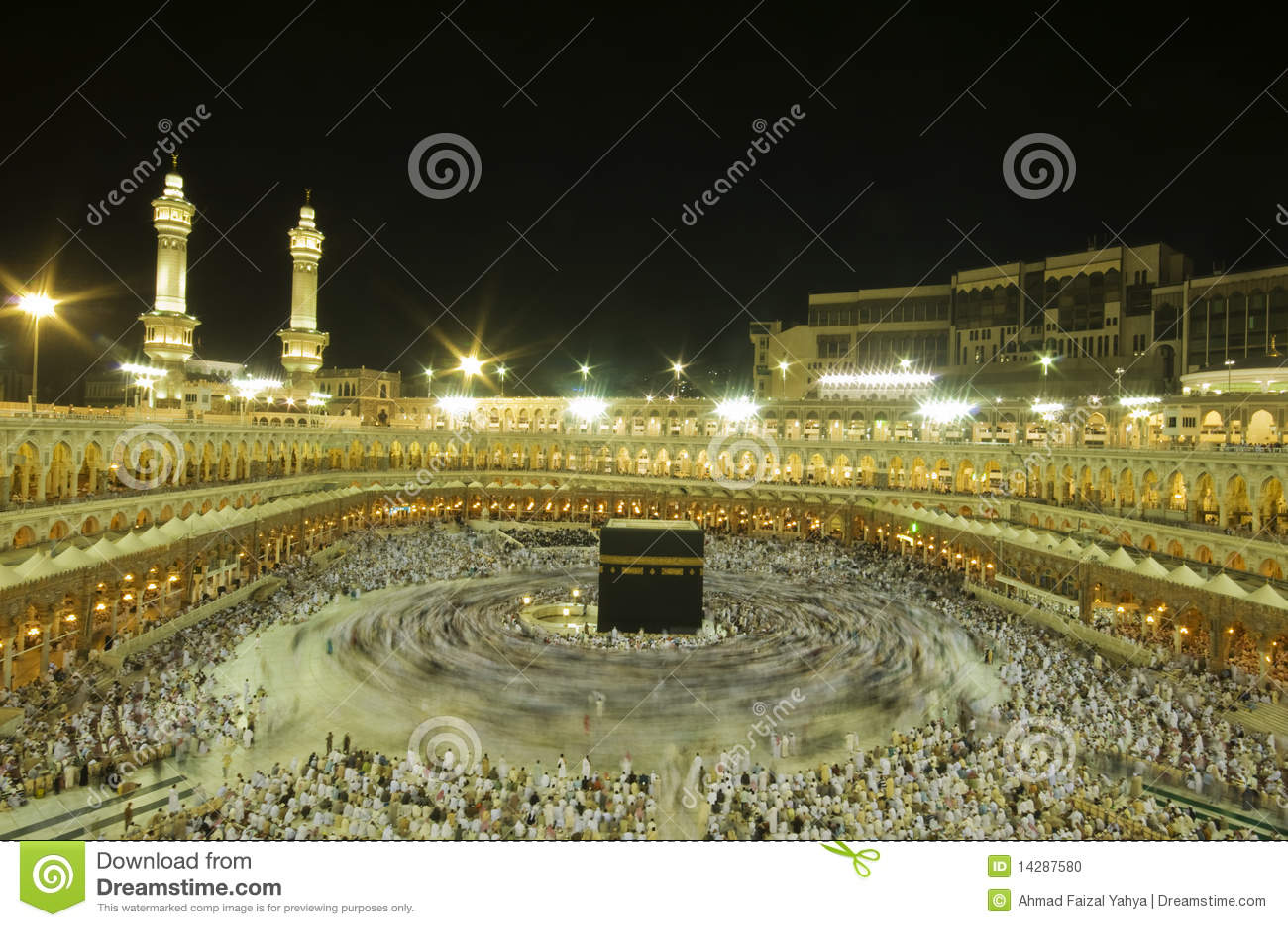 Kaaba en Makkah, Reino de la Arabia Saudita.