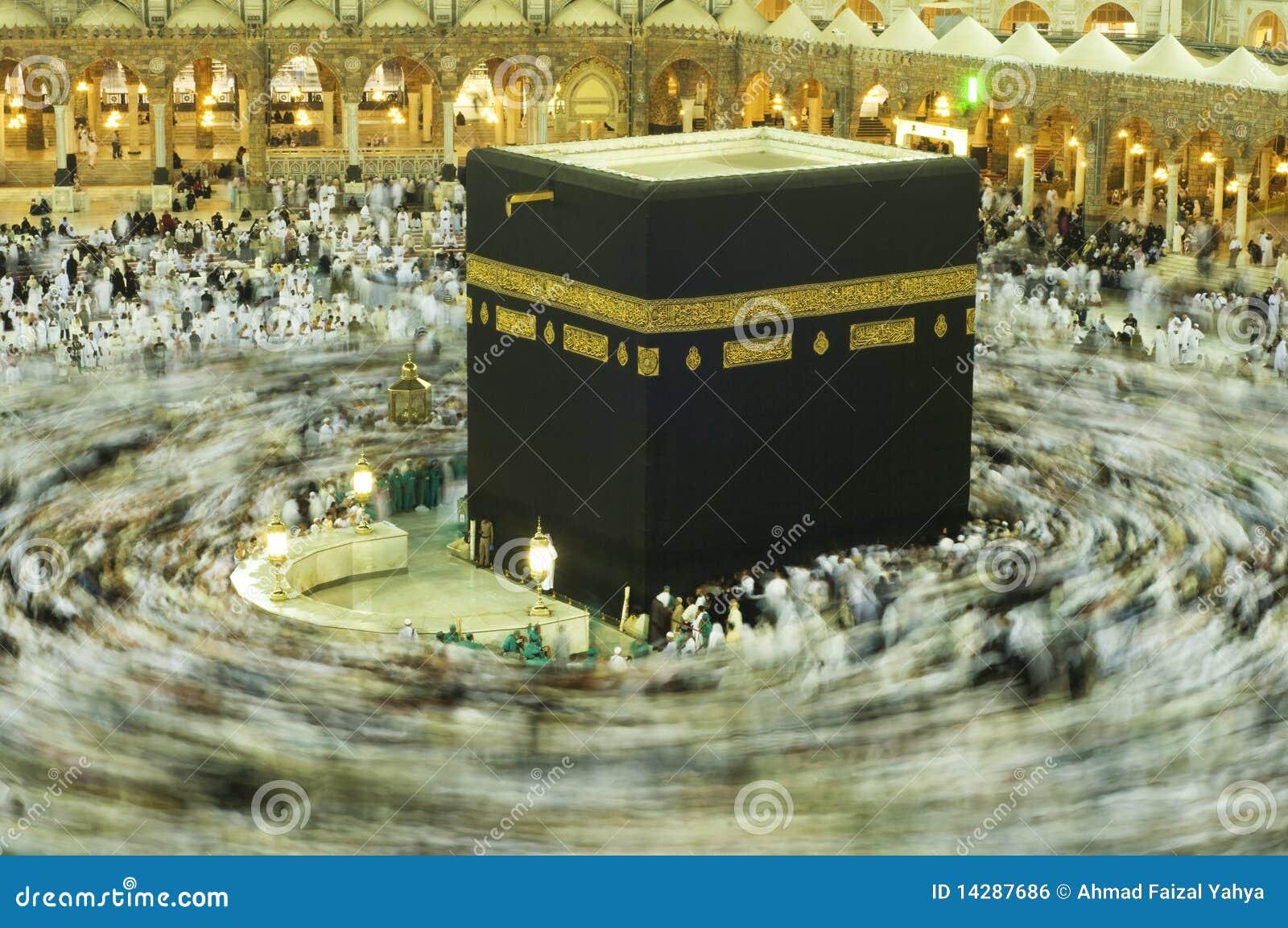 Kaaba in Makkah, Kingdom of Saudi Arabia.