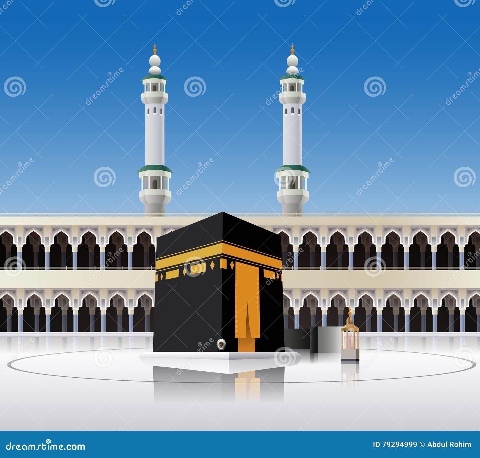 Kaaba Mecca Saudi Arabia Stock Illustrations