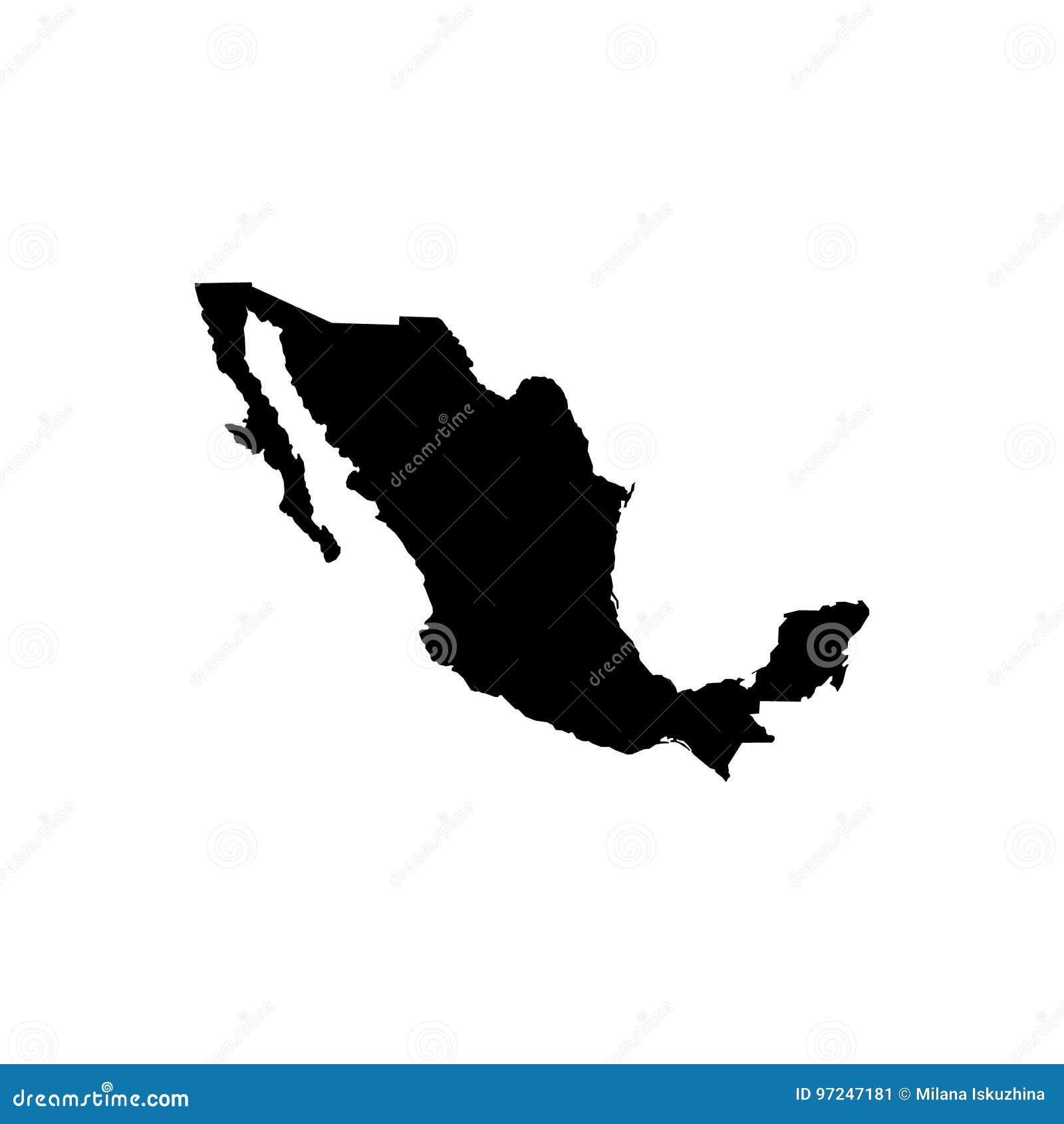 Kaart - Mexico