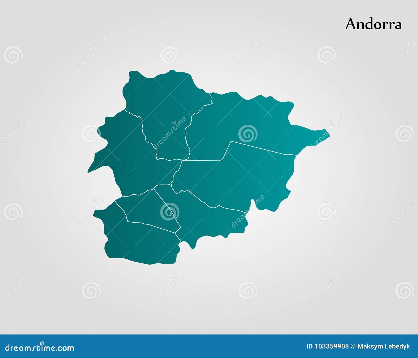 Kaart van Andorra