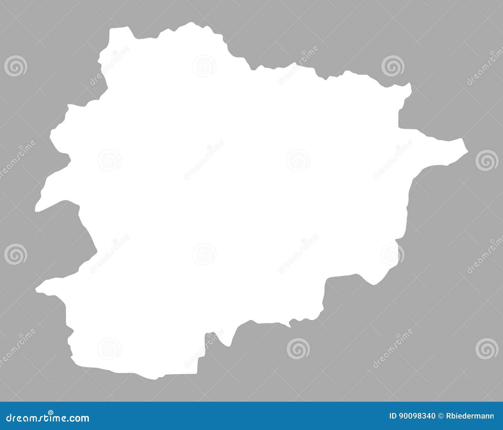Kaart Van Andorra Vector Illustratie Illustratie Bestaande Uit