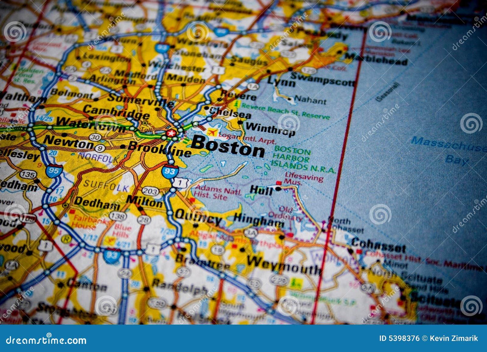 Kaart van Boston