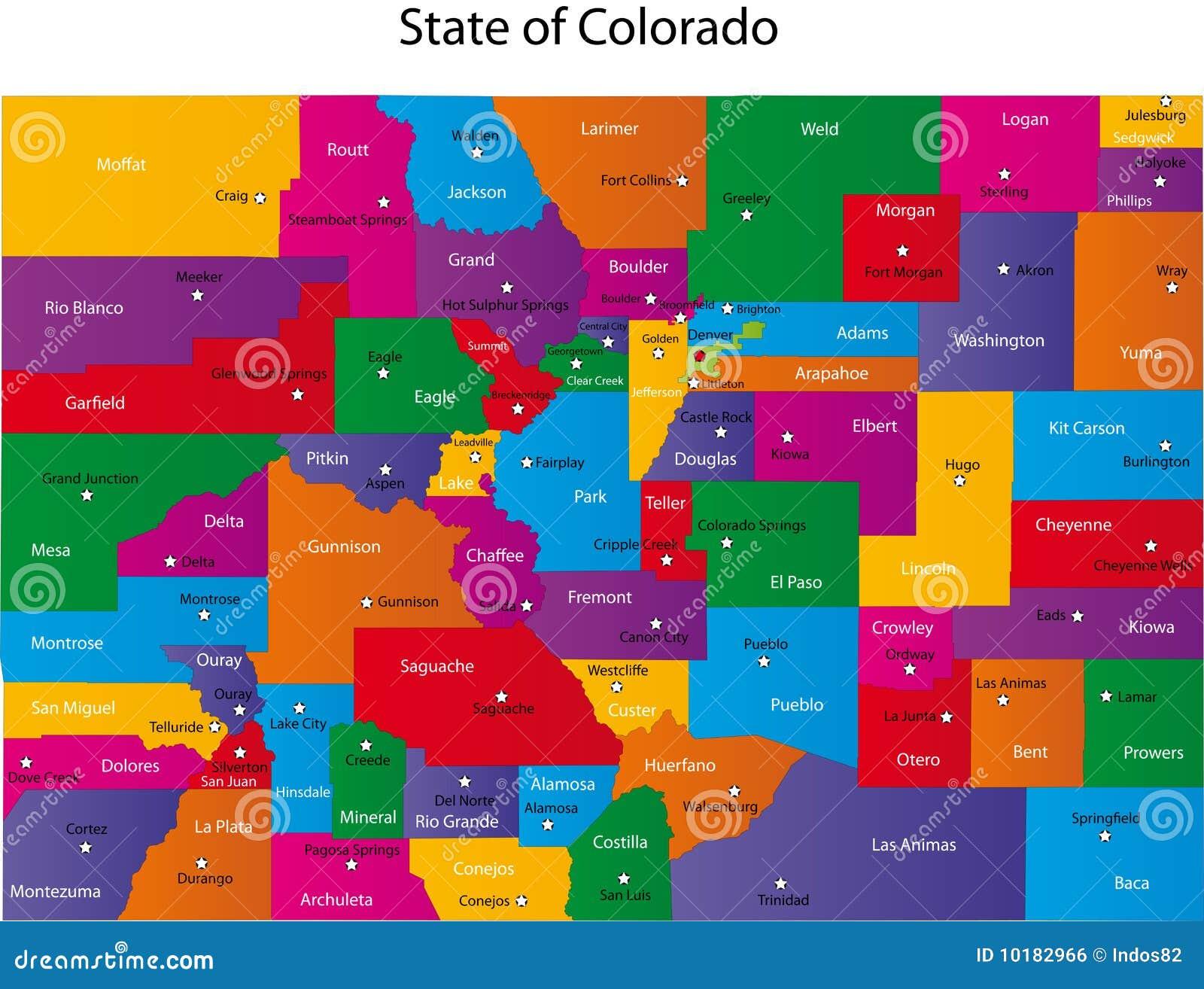 Kaart van Colorado