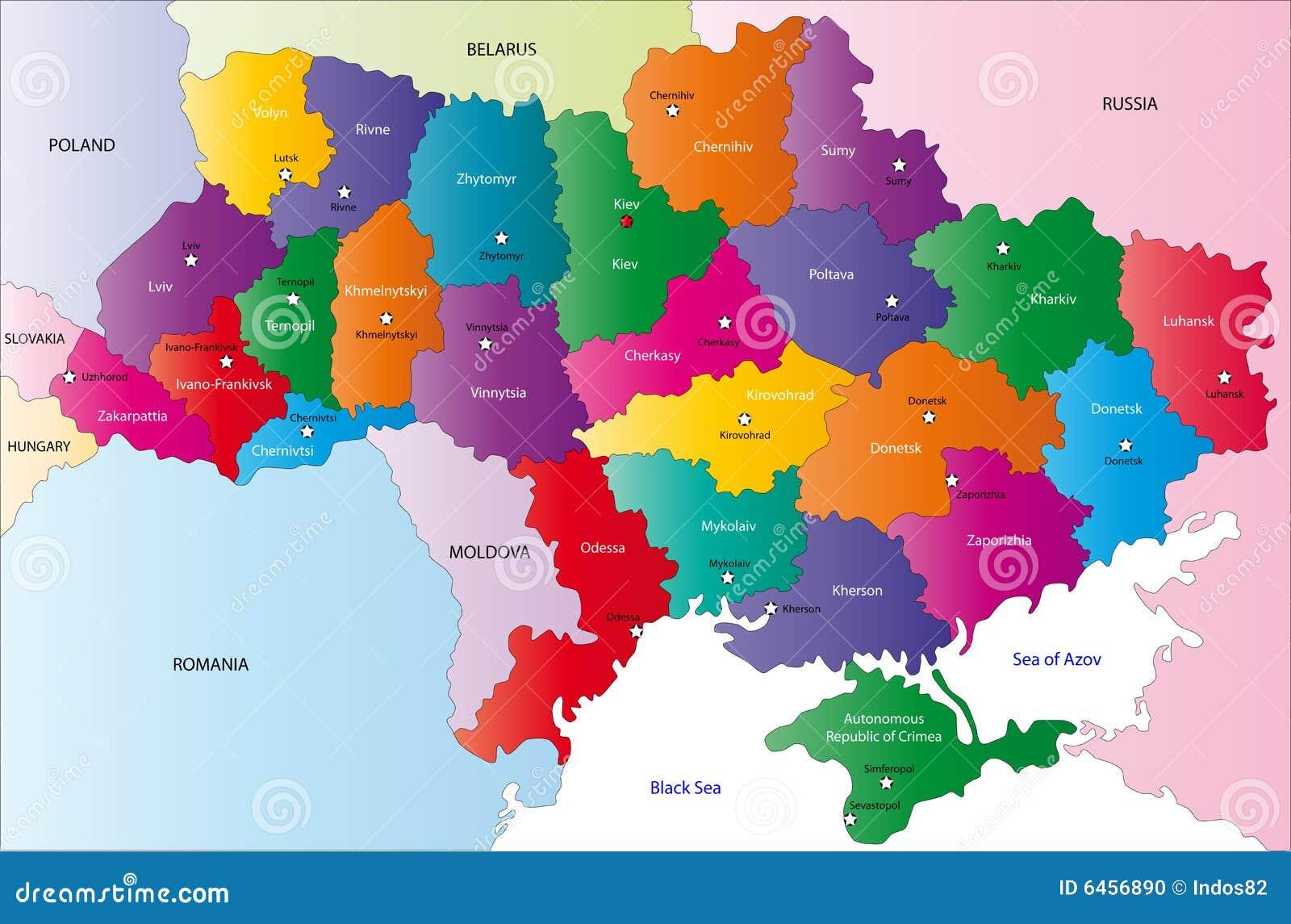 Kaart van de Oekraïne