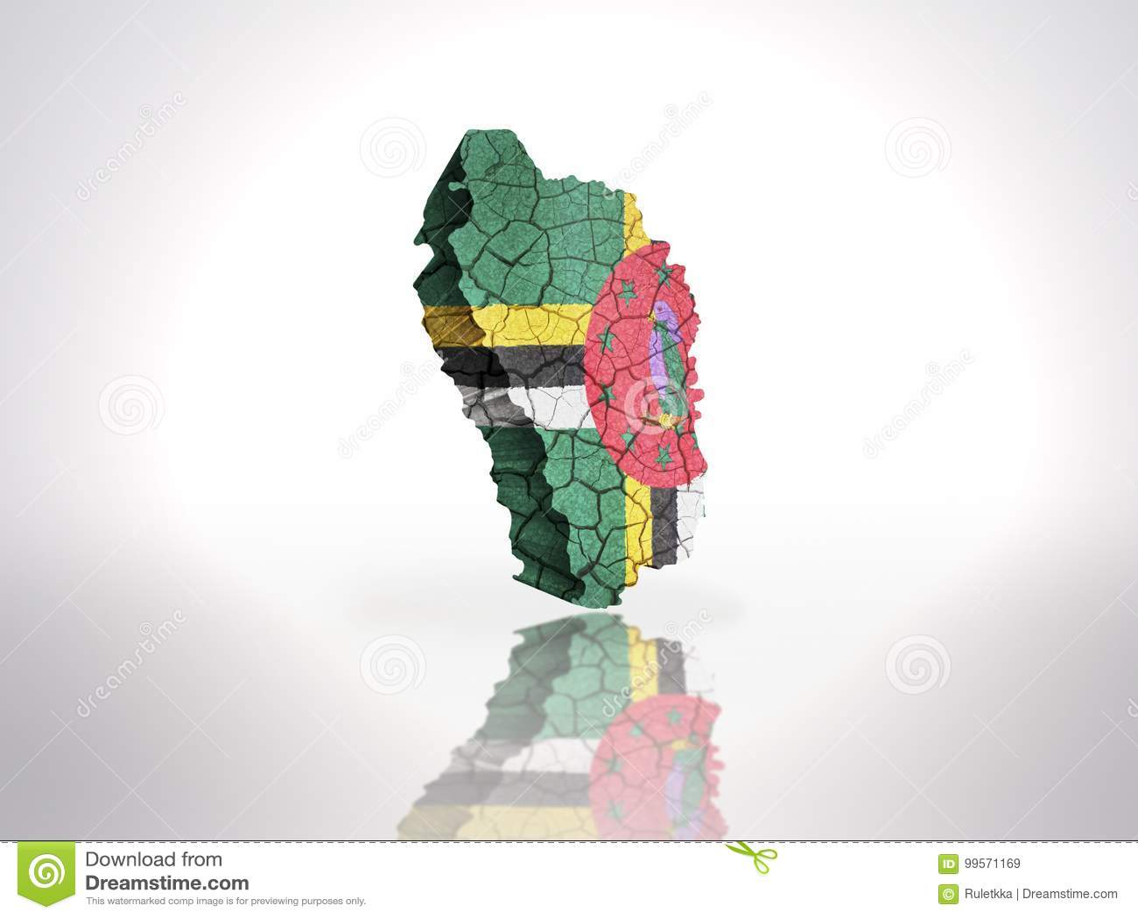 Kaart van Dominica