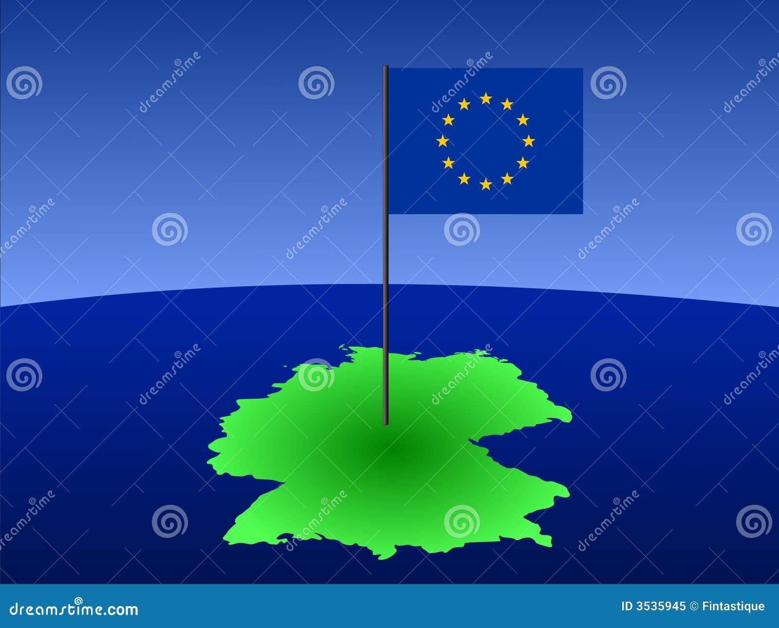 Kaart van Duitsland met vlag