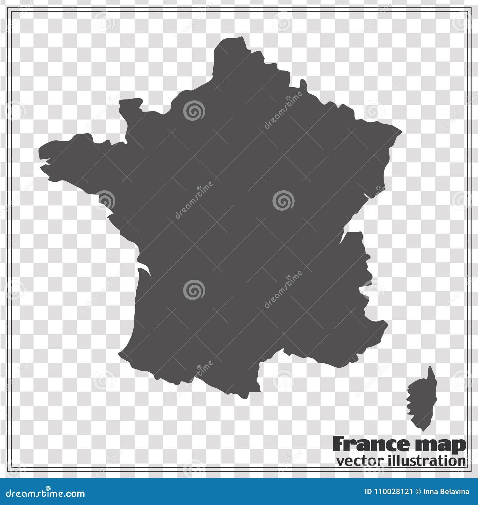 Kaart van Frankrijk Vector illustratie