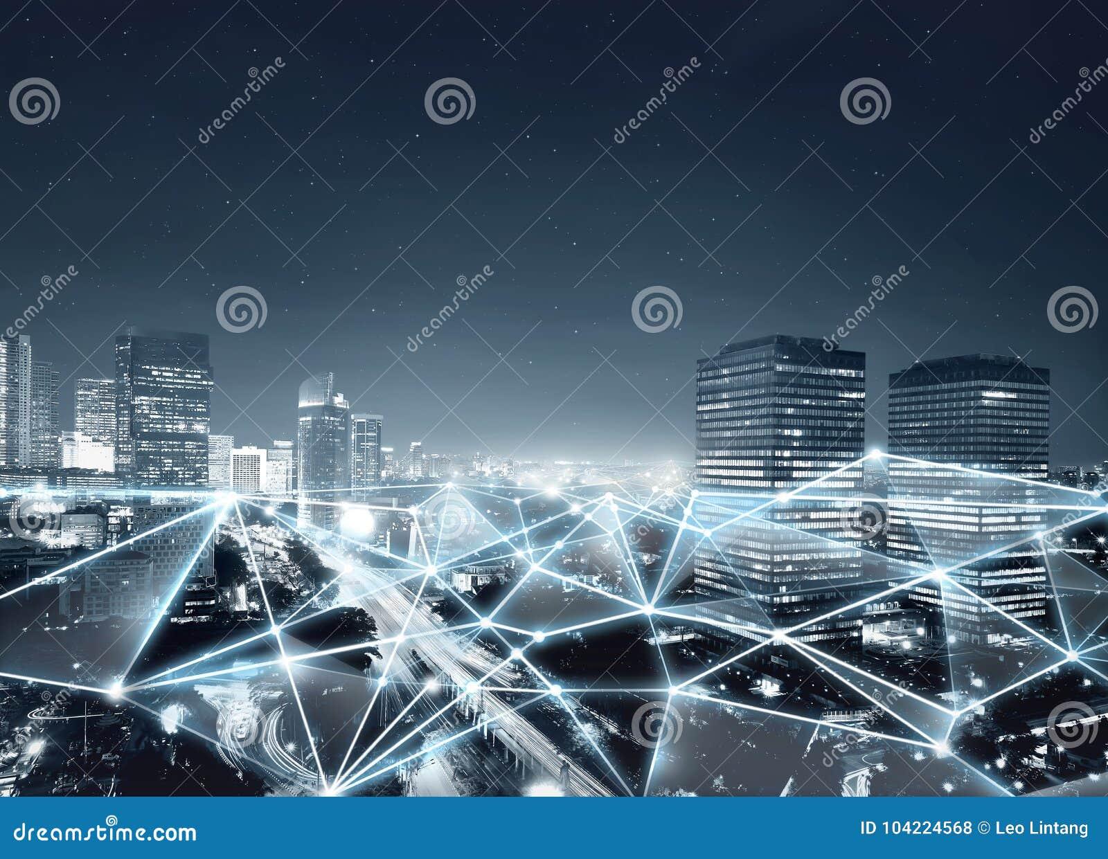 Kaart van netwerkverbinding en Internet-mededeling