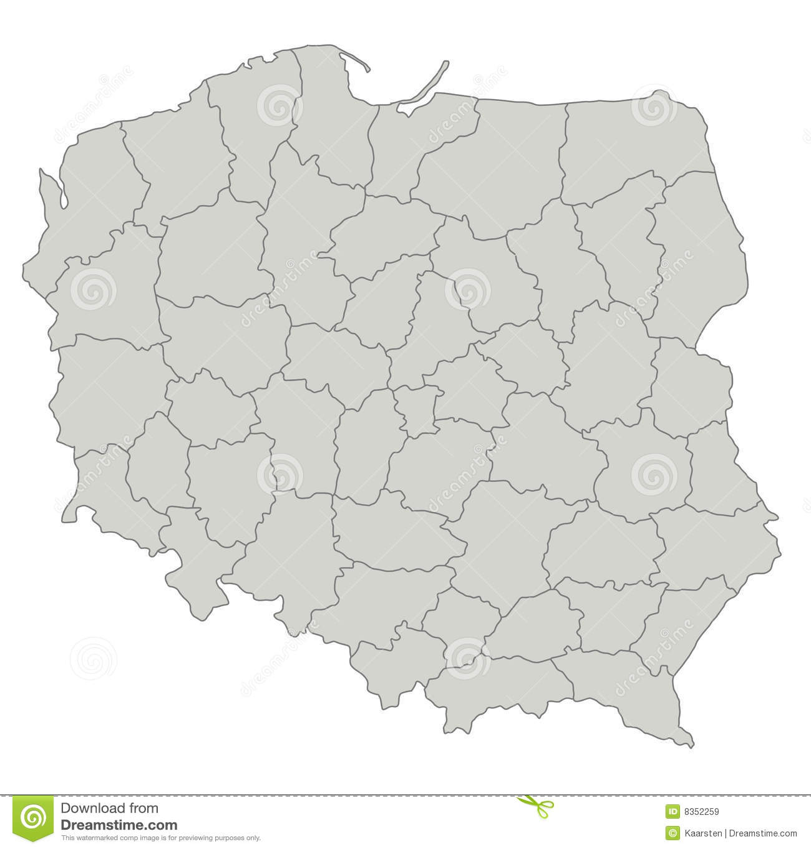 Kaart van Polen